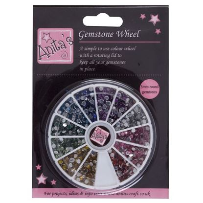 Picture of Gemstone Wheel 3mm Assorted
