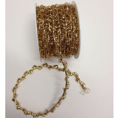 Picture of Fancy Elasticated Tinsel Cord Gold