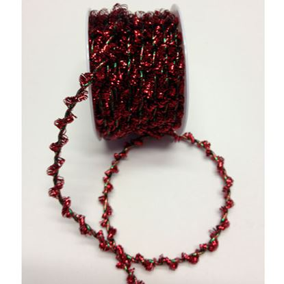 Picture of Fancy Elasticated Tinsel Cord Red/Green Mix