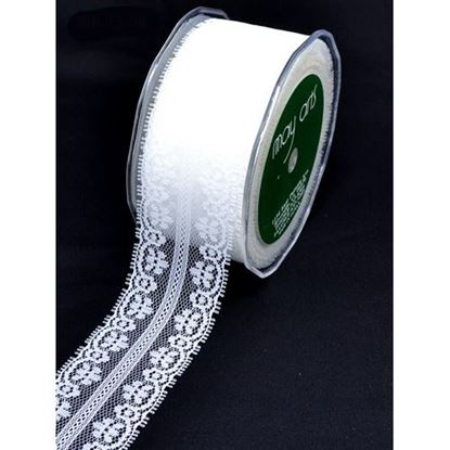 """Picture of Ivory Lace Ribbon 1.5"""""""