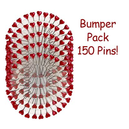 Picture of Decorative Heart Pins Red Pk150