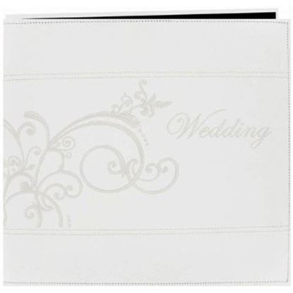 """Picture of 12"""" x 12""""  Wedding Album Scroll Ivory"""
