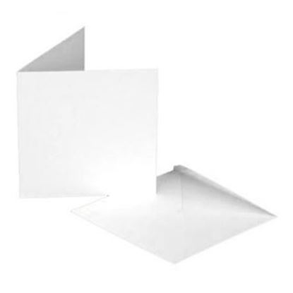"Picture of Luxury White Cards & Envelopes 8""x 8"""