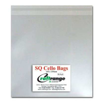 "Picture of Cello Bags 5.25"" x 5.25"" Pk 50"