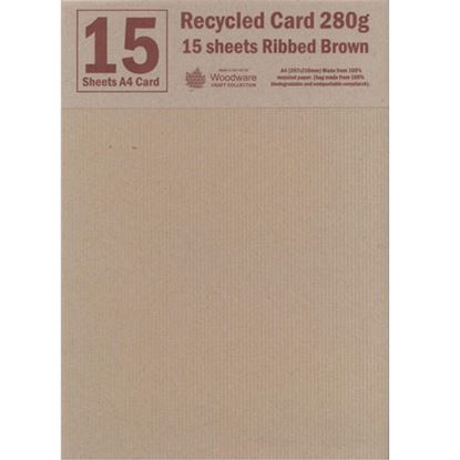 Picture of Recyled Ribbed Brown A4 Card 280gsm