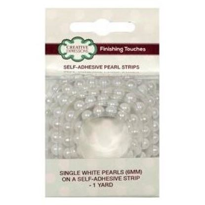 Picture of Creative Expressions Self Adhesive Single White Pearl Strips 6mm