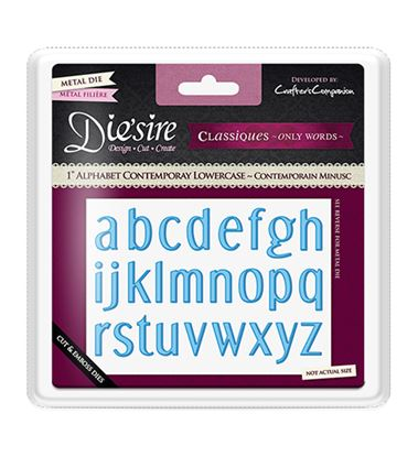 "Picture of Die'sire Classique 1"" Alphabet Dies - Contemporary Lowercase"