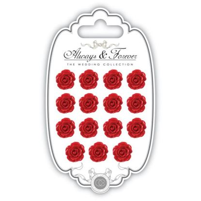Picture of Craft Consortium Always and Forever The Wedding Collection Resin Flowers - Red