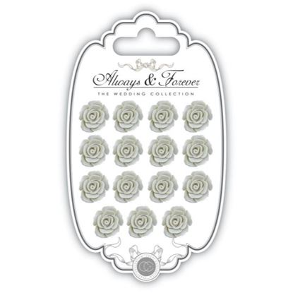 Picture of Craft Consortium Always and Forever The Wedding Collection Resin Flowers - Ivory