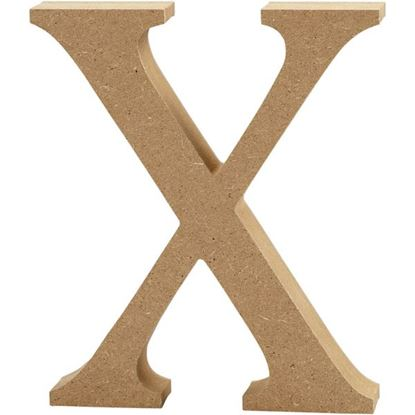 Picture of MDF Wooden Letter X (8cm)