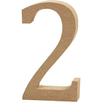 Picture of MDF Wooden Number 2 (8cm)