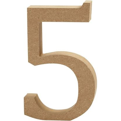 Picture of MDF Wooden Number 5 (8cm)