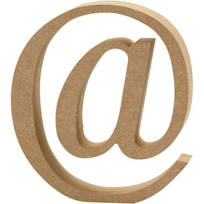Picture of MDF Wooden Letter @ Sign (8cm)