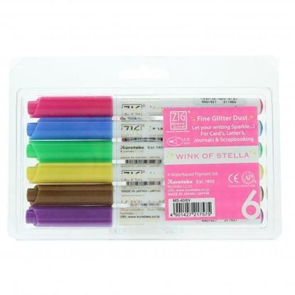 Picture of Zig Memory System Wink of Stella Fine Glitter Dust Markers (6)