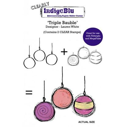 Picture of Indigoblu A6 Clear Stamp Set Triple Bauble