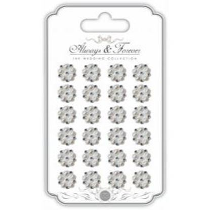 Picture of Always and Forever The Wedding Collection -Self Adhesive Pearl & Rhinestone Cluster