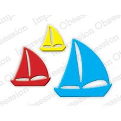 Picture of Impression Obsession Die Sailboats