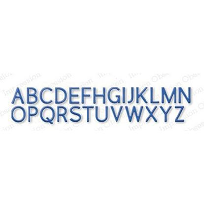 Picture of Impression Obsession Die Set Alpha Uppercase