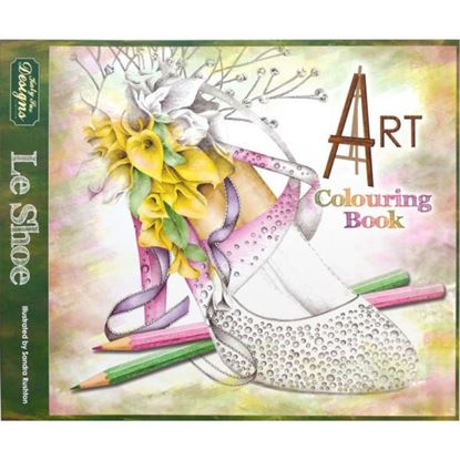 Picture of Le Shoe Art Colouring Book for Adults