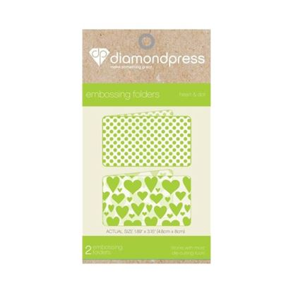 Picture of Diamond Press Embossing Folder - Heart & Dot
