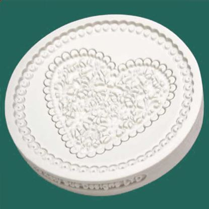 Picture of Katy Sue Designs Cupcake Mould - Lace Heart