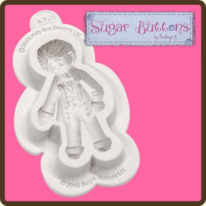Picture of Katy Sue Sugar Buttons Mould - Groom