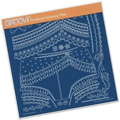 Picture of Oooh La La Knickers Groovi A4 Square Plate