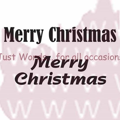 Picture of Woodware Just Words Stamp - Merry Christmas