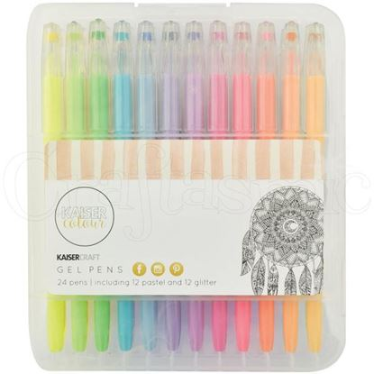 Picture of Kaiser Colour Gel Pens - Pastels/Glitters