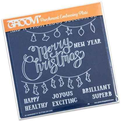 Picture of Merry Christmas Groovi Plate A5 Square