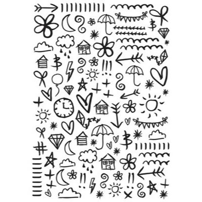 "Picture of Kaisercraft Embossing Folder 4""x6"" - Doodles"