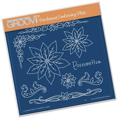 Picture of Poinsettia Name Groovi A5 Plate by Jayne Nestorenko