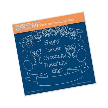 Easter Banners - Groovi A5 Square Plate