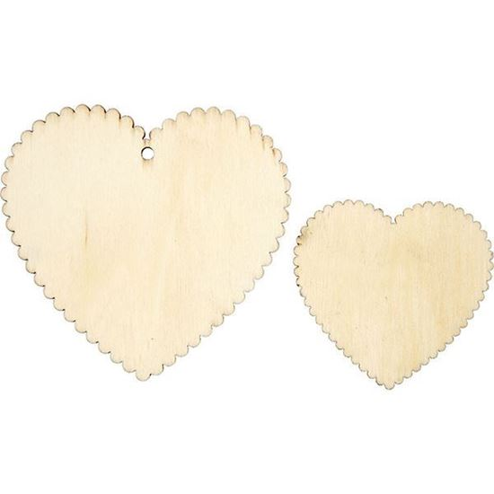 Wooden Scalloped Hearts
