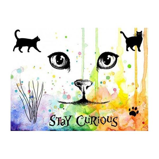 Visible Image Stamp - Curious Cats