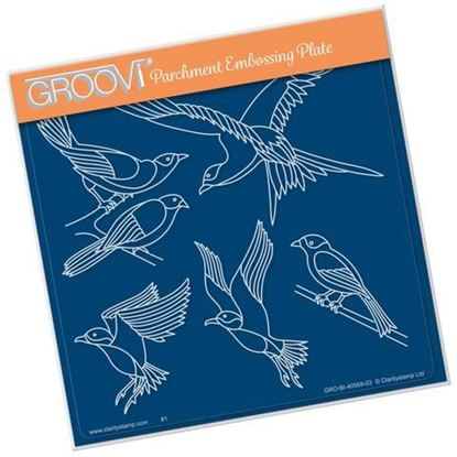 Feathered Friends - Groovi A5 Square Plate