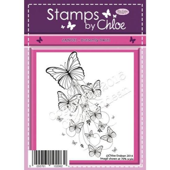 Stamps by Chloe - Butterfly Swirl