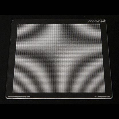 Groovi Piercing Grid A5 Square Plate - Straight