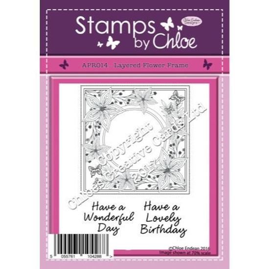 Stamps by Chloe - Layered Flower Frame