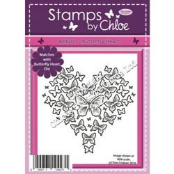 Stamps by Chloe - Butterfly Heart