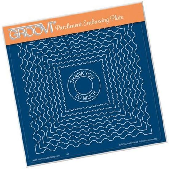 Nested Postage Stamp - Groovi A5 Square Plate