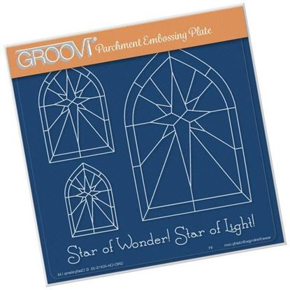 Christmas Star Window Groovi A5 Plate
