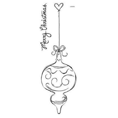 Woodware Clear Stamp Set - Swirly Solo Bauble