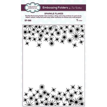 "Sue Wilson 5.75 x 7.5"" Folder - Sparkle Flakes"