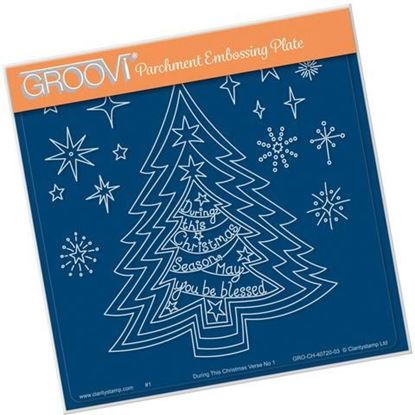 Nested christmas Trees & Verse No1 - Groovi A5 Square Plate