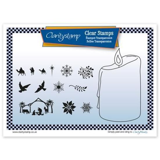 Candle - Clarity Outline Mask & Stamp Set