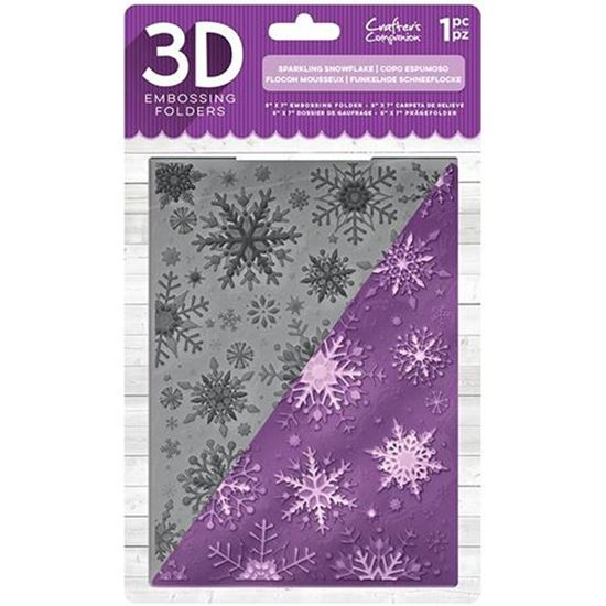 Crafters Companion 3D Embossing Folder - Sparkling Snowflake