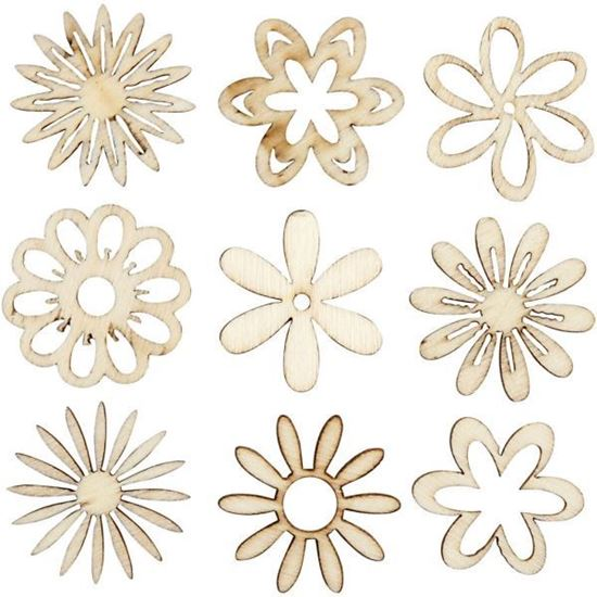 Wooden Decorations Flowers
