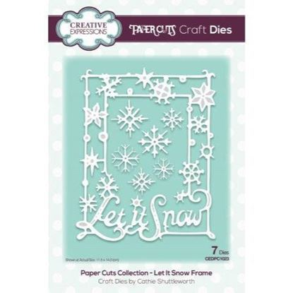 Creative Expressions Paper cuts Die - Let it Snow Frame
