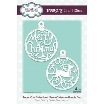 Creative Expressions Paper cuts Die - Merry Christmas Bauble Duo
